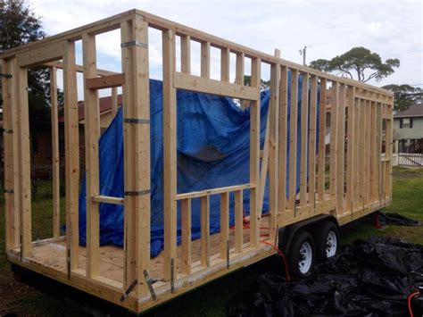 house framing tiny house wall sheathing choo choo tiny house
