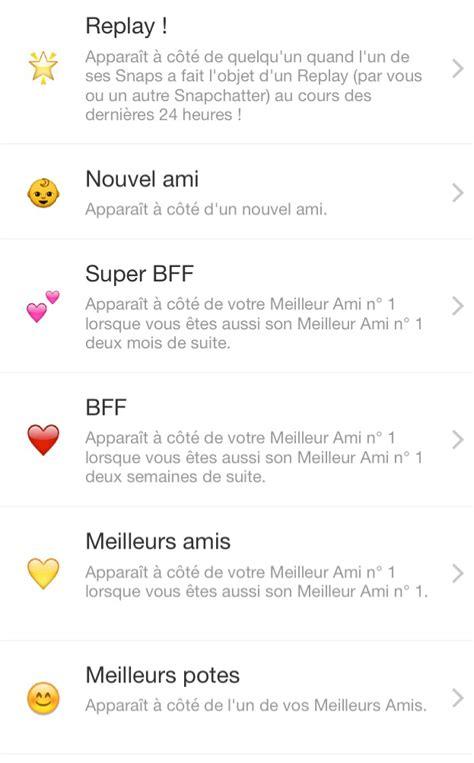 signification de layout en francais maj snapchat voici la signification des emojis 224 c 244 t 233 de