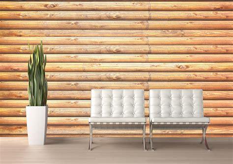 Wall Log Cabin by Log Cabin Pine Wall Mural