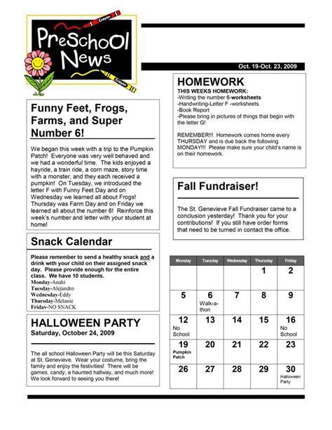 Newsletter Calendar Template newsletter classroom management