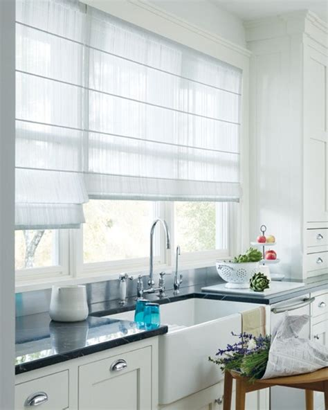 roman shades on kitchen windows the kitchn