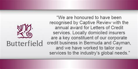 Captive Insurance Letters Of Credit butterfield receives captive services award bernews