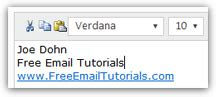 format email hotmail add an email signature to hotmail messages