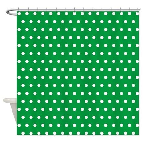 Green Polka Dot Shower Curtain By Creativeconceptz
