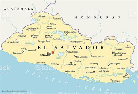 america map el salvador el salvador political map stock vector 509141403 istock