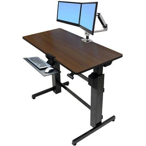 Amazon Com Ergotron Workfit D Sit Stand Desk Walnut Standing Desk Accessories