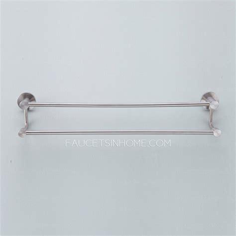 modern bathroom towel bars modern double stainless steel towel bars brushed nickel