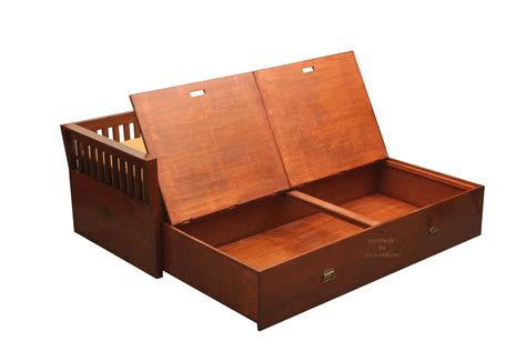 Wooden Sofa Bed With Storage Storage Sofa Bed Day In Teak Wooden Sofa Bed