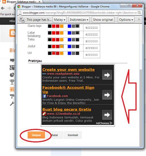 adsense di blog cara mudah memasang google adsense di blog 4 download info