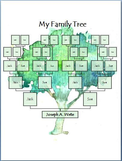 digital family tree template family tree digital template painted tree from