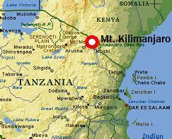 africa map kilimanjaro where is kilimanjaro
