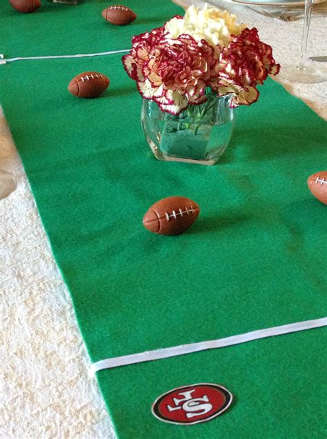Link Score With This Bowl Centerpiece by Score Football Table Runner Of The Always