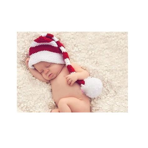 newborn baby boys girls christmas santa claus knit hat
