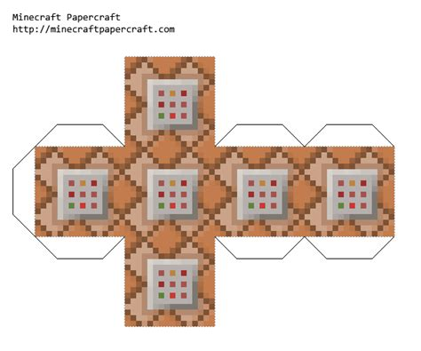 Minecraft Papercraft Block - papercraft command block