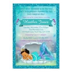 adorable mermaid baby shower invitations 136 med zazzle