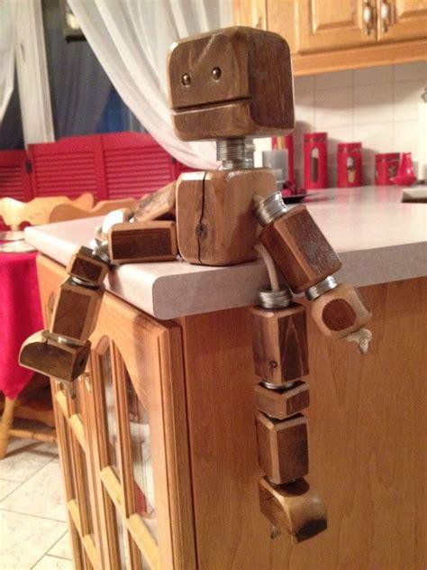 scrap wood robot decoration  kids room
