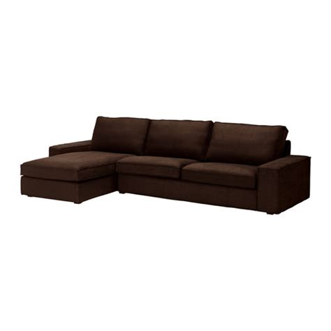 Ikea Chaise Lounge Sofa Kivik Sofa And Chaise Lounge Tullinge Brown Ikea