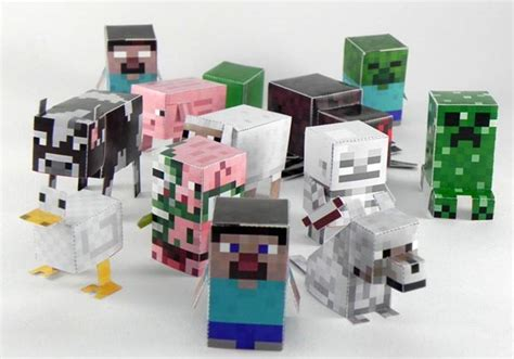 Minecraft Papercraft Toys - minecraft stuff on minecraft creepers and cubes