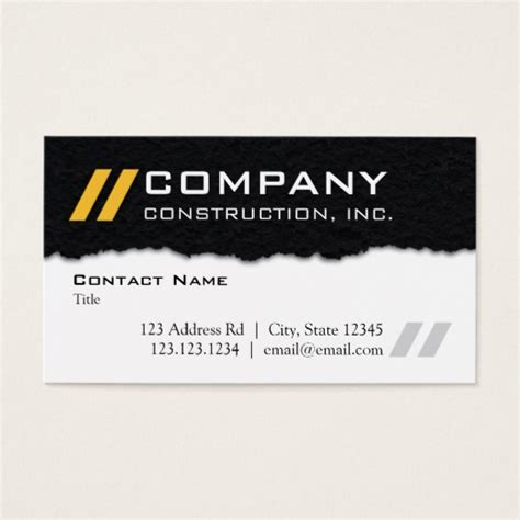 Themed Business Cards pavement themed professional business card zazzle