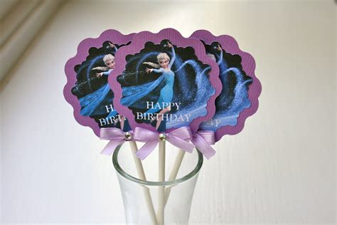 Disney Frozen Cupcake Decorations by Disney Frozen Cupcake Toppers Elsa Happy Birthday