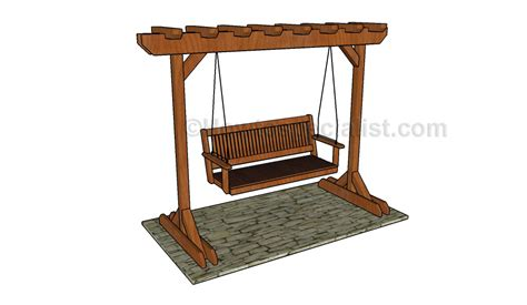 porch swing plans with stand swing stand plans howtospecialist how to build step