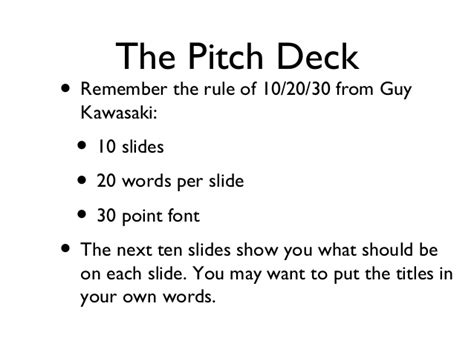 pitch template