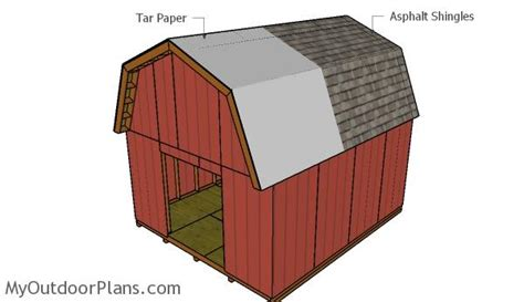 14x16 barn shed plans myoutdoorplans free woodworking 14x16 barn shed roof plans myoutdoorplans free