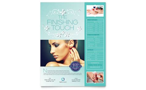 templates for leaflets microsoft nail technician flyer template word publisher