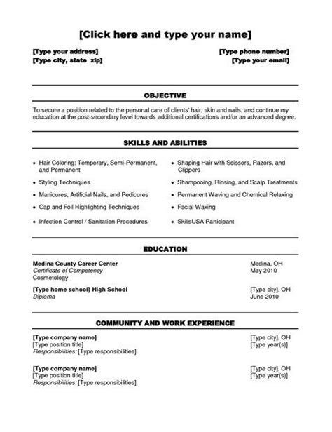 Resume Templates Cosmetology Student Cosmetology Student Resume Templates Student Resume Template Posts Student And
