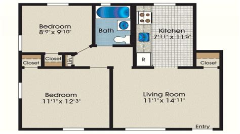 600 Square Foot Floor Plans | 600 square foot house 600 sq ft 2 bedroom house plans 600