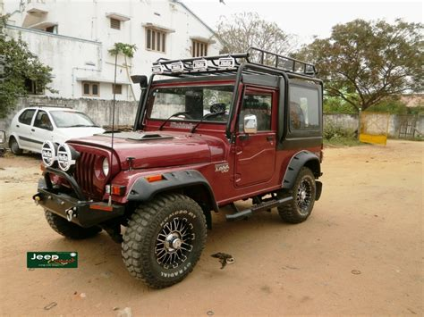mahindra jeep thar modified modified mahindra thar hardtop with rolloverbars