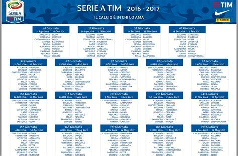 Calendario Serie A 2017 18 Calendario Serie A 2016 2017 Tutte Le Partite E Le Date
