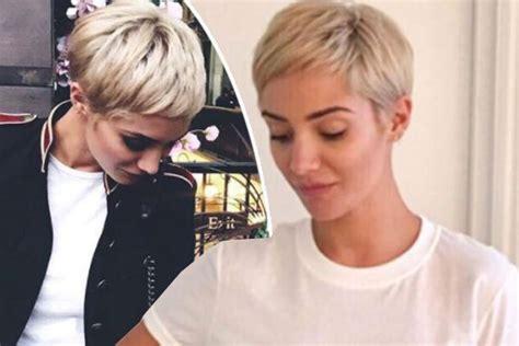 frankie lyons recent blonde hairdo frankie bridge reveals secret about her hair after going