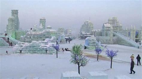 ice city visitors flock to china ice city bbc news