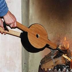 bellows modern fireplace leather uk