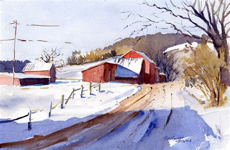 plein air paintings from paint snow hill featured in may watercolor painting landscape snow www pixshark com