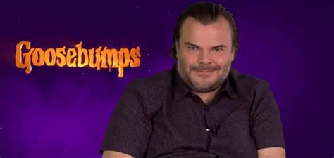 famous actors goosebumps jack black plays fictional version of real life author in