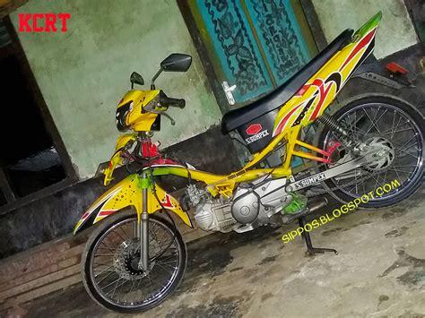 Gambar Motor Modifikasi Keren by Foto Modifikasi Airbrush Motor Drag Terkeren Dan Terbaru