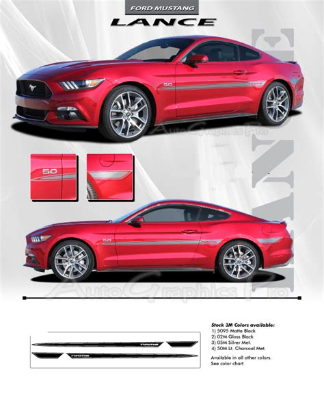 2015 2016 2017 ford mustang quot lance quot side stripes vinyl
