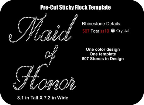pre cut sticky flock templates pre cut rhinestone flock template wedding bridal of