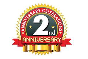 anniversary logo template 2nd anniversary logo vector template free downloads