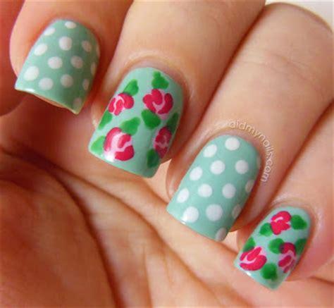 easy nail art roses did my nails vintage rose nail art tutorial