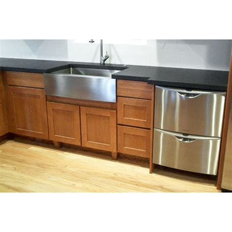 30 Inch Stainless Steel Single Bowl Curved Front Farm Apron Sink Kitchen