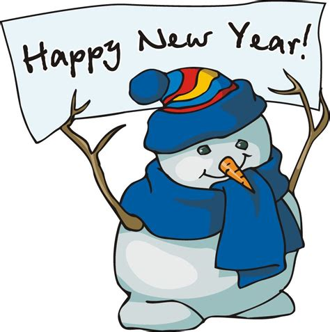 Happy New Years Clip by Stack A Snowman Winter Clipart Activity By Dj Inkers