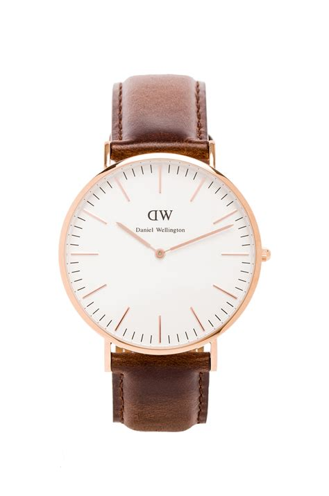 Leather 34mm Rosegold Dan Silver daniel wellington bristol 40mm in brown for lyst