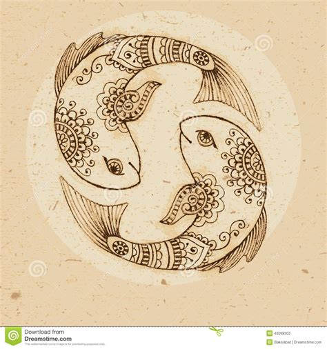zodiac sign pisces stock vector image 43268302
