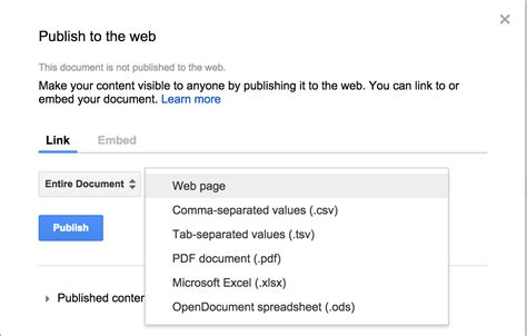 Publish Spreadsheet To Web by New Options For Publishing Sheets Mygate