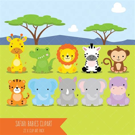 safari animals clip safari baby animals clipart jungle animals clipart zoo