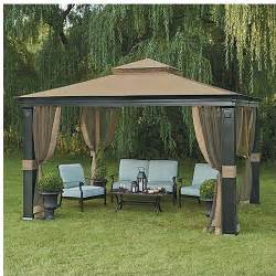 Patio Netting 10 X 12 Fremont Patio Gazebo With Mosquito Netting Ebay