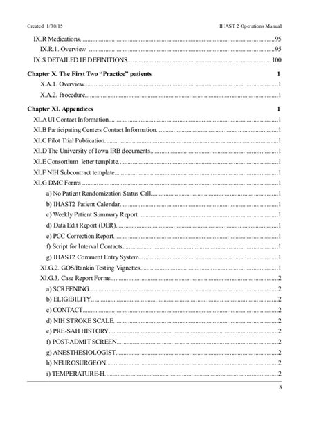 Ihast2 Operations Manual Doc Nih Consortium Agreement Template